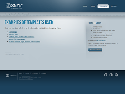 mycompany getsimple theme